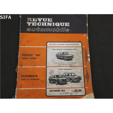 Volkswagen Golf et Scirocco Revue technique.
