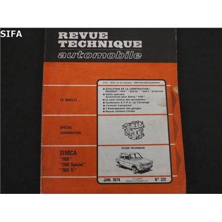 Simca 1100 Revue technique.