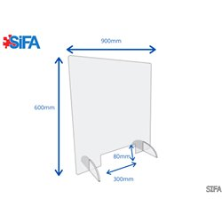 Ecran de protection de comptoir