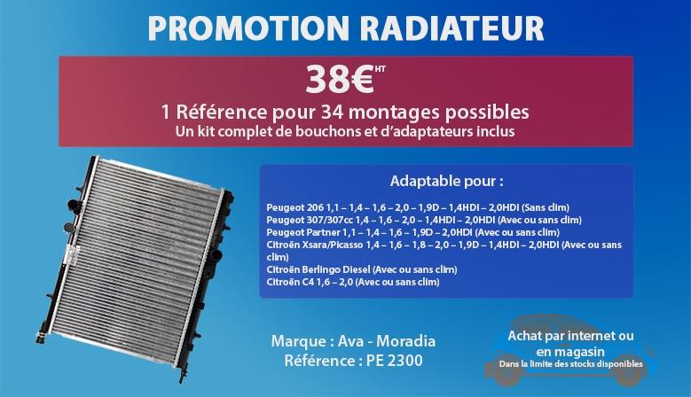 Promotion radiateur universel